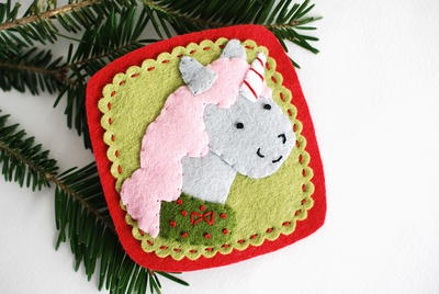Christmas Unicorn DIY Ornament
