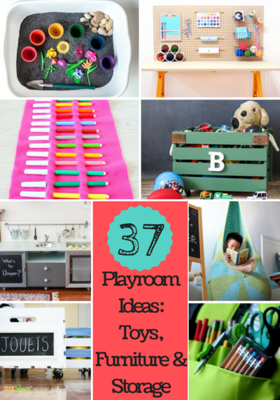 37 DIY Playroom Ideas Toys Furniture and Storage