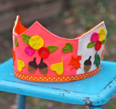 Autumnal Celebration Felt Kids Crown