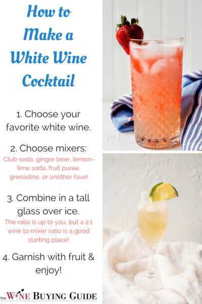 How to make a white wine cocktail