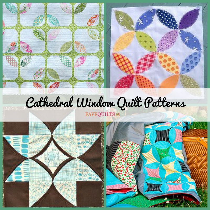 12 cathedral window quilt patterns for Window quilts