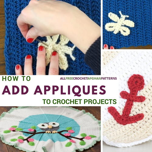 Crochet Applique How to Add Appliques to Crochet Projects