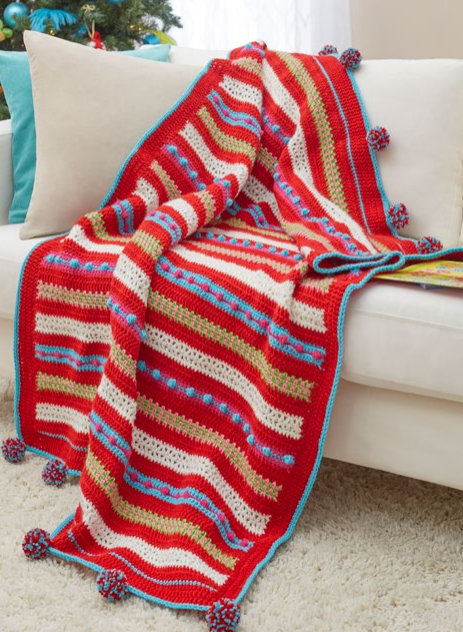 Christmas Morning Easy Crochet Blanket