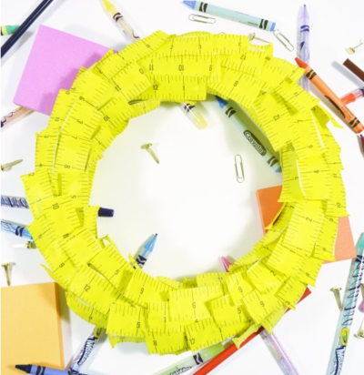Ruler Masking Tape DIY Wreath