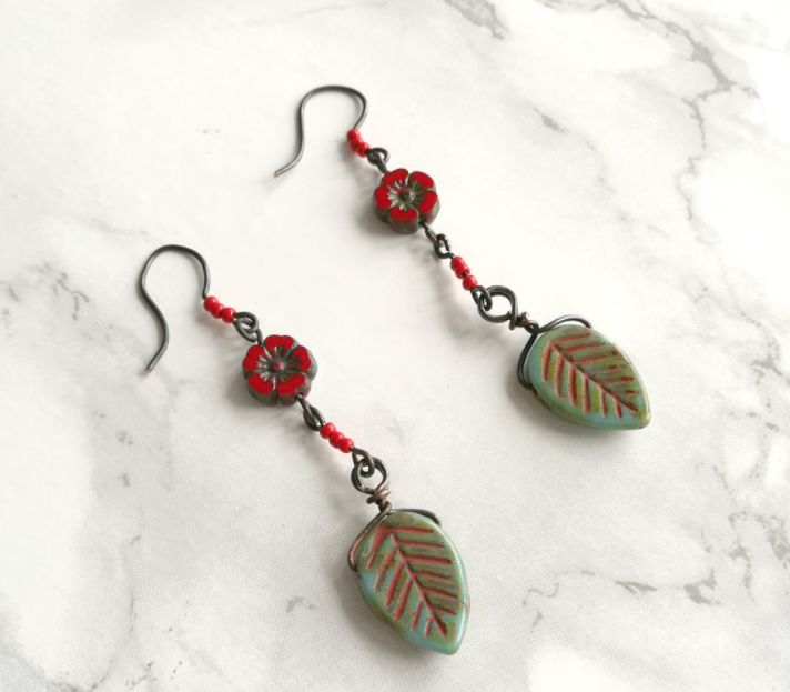 Floral and Leaf DIY Earrings
