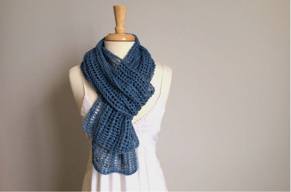 Knitting Goddess : Goddess summer scarf allfreeknitting