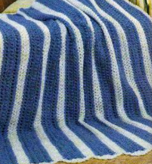 Blue Strip Afghan