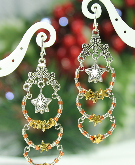 Star Tier Dangle Earrings