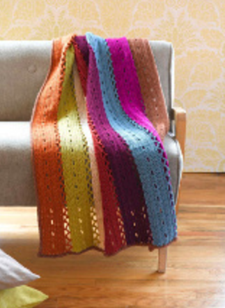 Colored Stripes Afghan