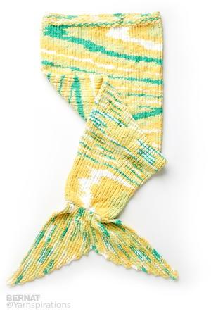Knitting Pattern Abbreviations Rs : Mermaid Knitted Sack Blanket AllFreeKnitting.com