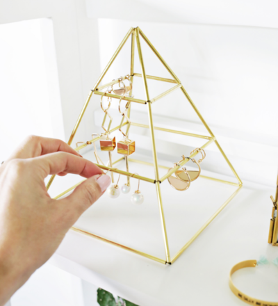Brass Earring Pyramid Holder