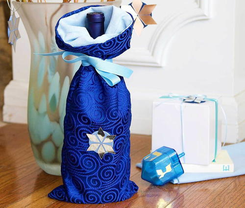 Hanukkah DIY Wine Bag