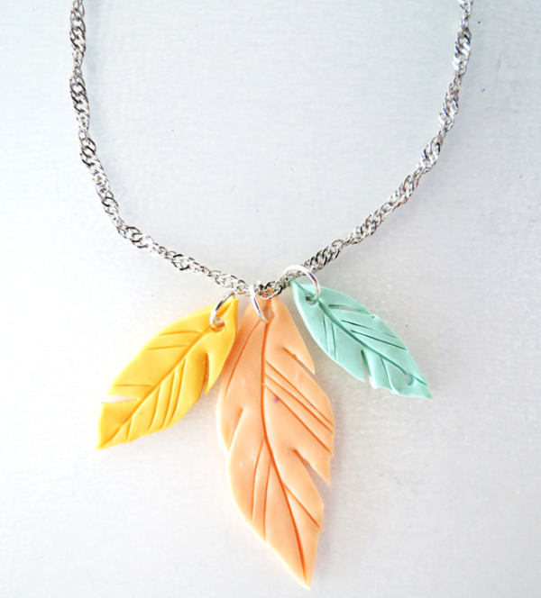 Fun Clay Feather Pendants