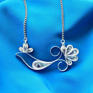 Quilled Bird DIY Necklace
