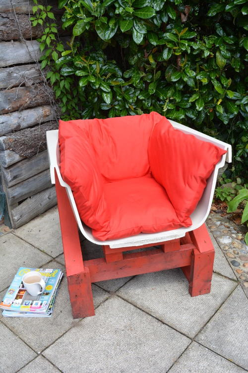 Upcycled DIY Garden Chair