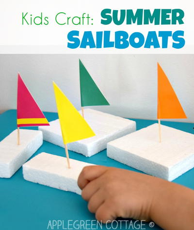 Easy DIY Sailboat Crafts For Kids