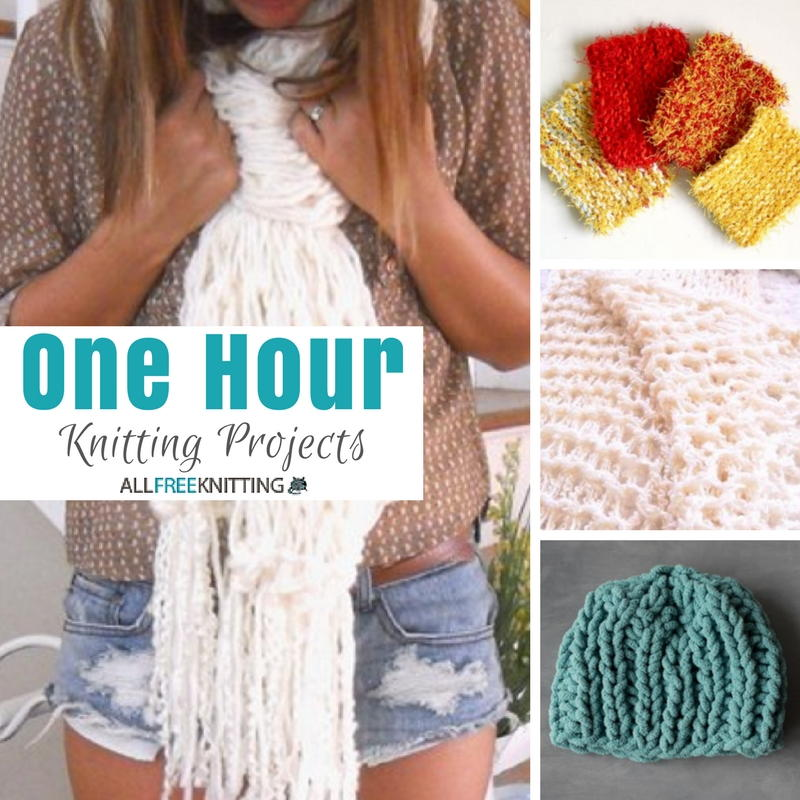 One Hour Kitchen Projects: One Hour Knitting Projects: 20 Easy Knitting Patterns