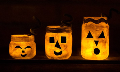 DIY Jack O Lantern Halloween Lights