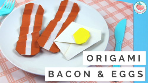 Origami Bacon & Eggs