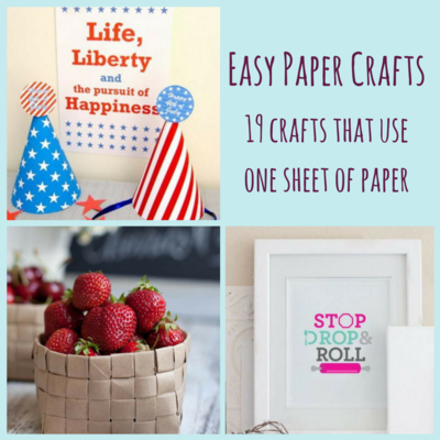 19 Crafts That Use One Sheet of Paper