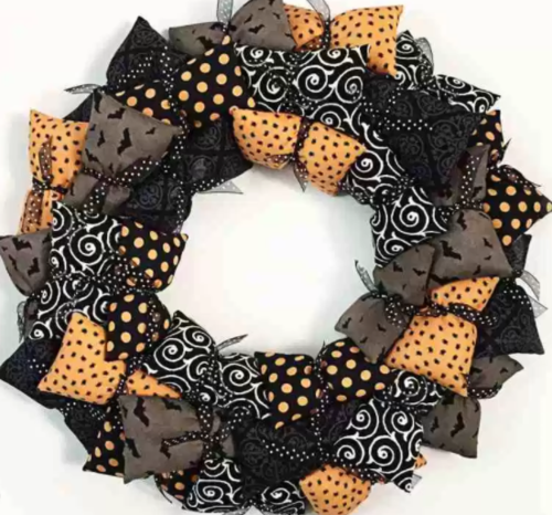 Halloween Pillow DIY Wreath
