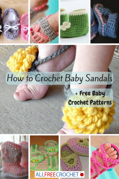 8a5b73351 How to Crochet Baby Sandals + 24 Free Baby Crochet Patterns ...