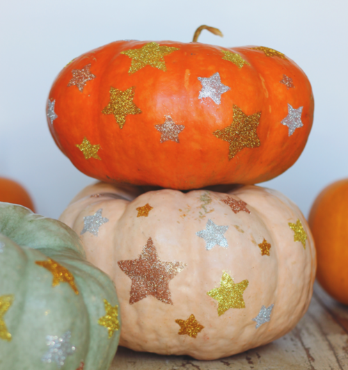 Star of the Show Glitter Pumpkins