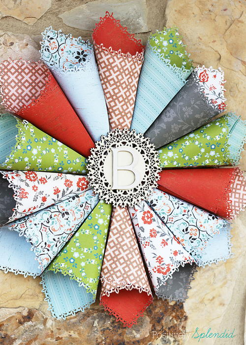Too Pretty Paper Cone Wreath
