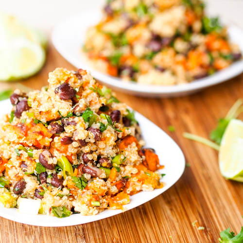 Vegan Sweet Potato Black Bean Salad