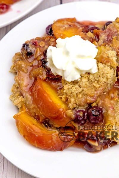 Perfect Peach Blueberry Crisp
