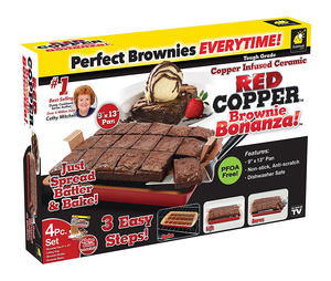 Bulbhead Red Copper Brownie Bonanza Pan Giveaway