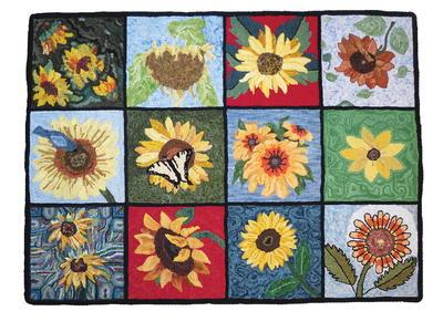 The Sunflower Rug Rughookingmagazine