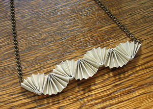 Folded Paper DIY Necklace