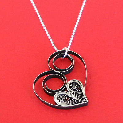 Quilled Heart DIY Pendant