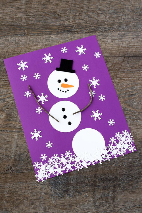 Chilly Paper Snowman Art