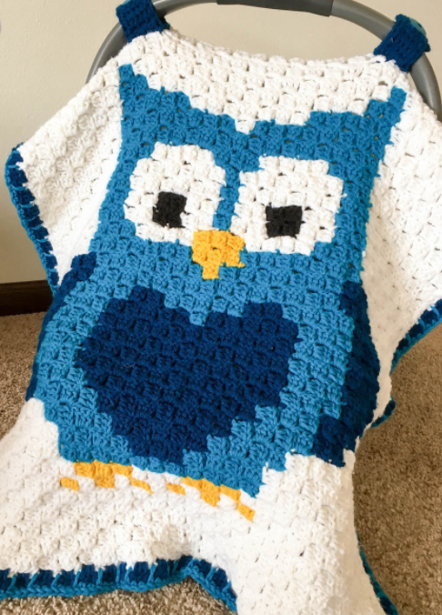 Owl Corner to Corner DIY Carseat Cover