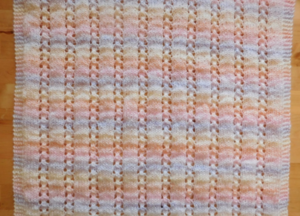 Bella Knit Baby Blanket Pattern