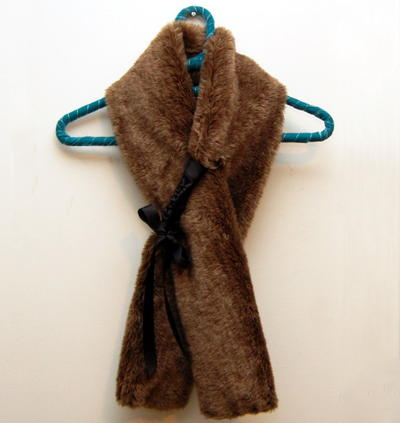 Fab Fur and Ribbon Scarf