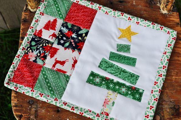Charming Christmas Tree Mug Rug Favequilts Com