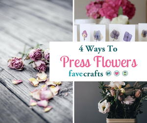 How to Press Flowers 4 Ways