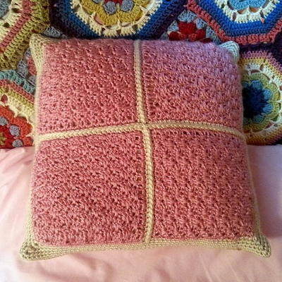 Small Fan Stitch Pillow Cover