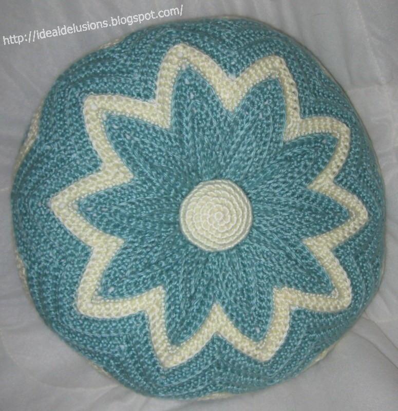 Retro Round Ripple Pillow Allfreecrochet Com