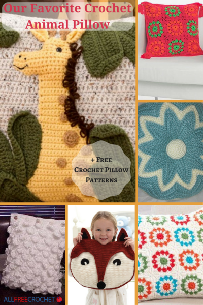 Our Favorite Crochet Animal Pillow  11 Free Crochet Pillow Patterns