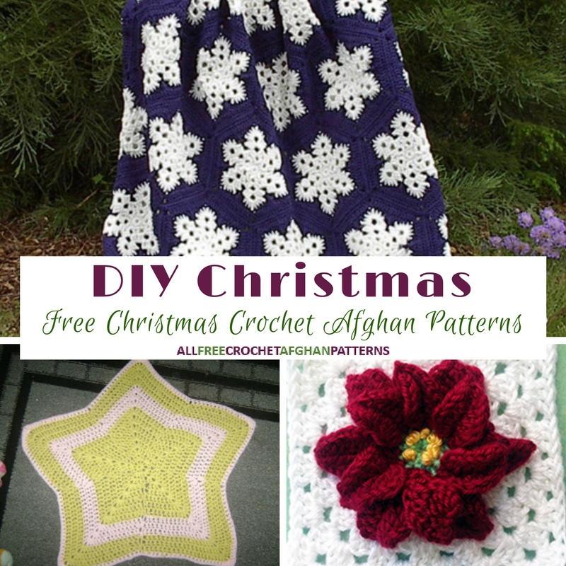 Diy Christmas 21 Free Christmas Crochet Afghan Patterns