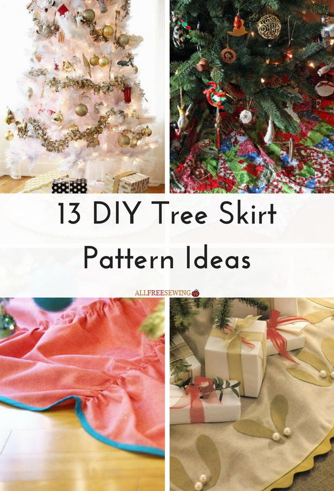 13 diy tree skirt pattern ideas allfreesewingcom - Christmas Tree Skirt Pattern