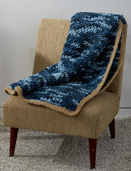 Tunisian Honeycomb Blanket