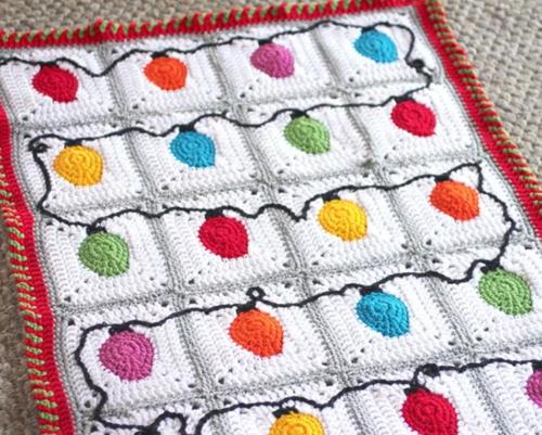 Crochet Christmas Lights Afghan Pattern