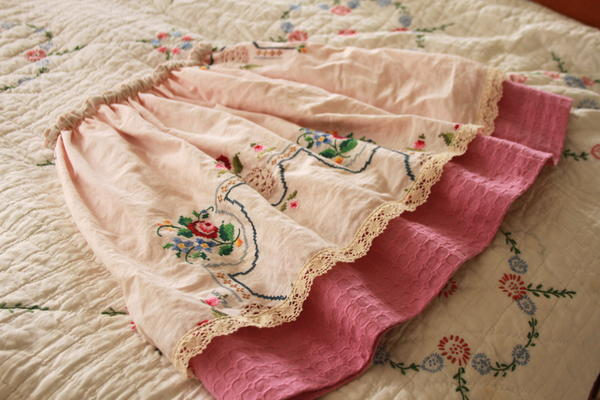 Simple Reversible Vintage Skirt