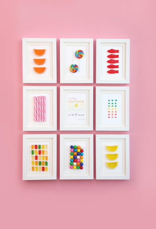 Maddeningly Sweet Framed Candy