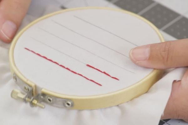How to Sew a Straight Line by Hand: Step 8